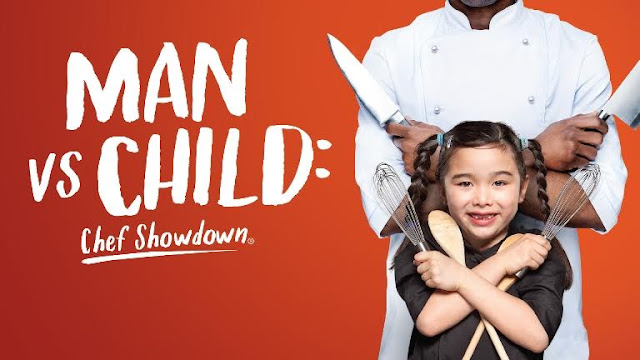 Rancangan terbaru di Lifetime. Aksi Memasak Si cilik, Estie Kung dalam rancangan Man vs Child : Chef Showdown