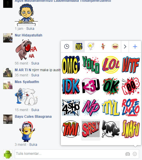 sticker facebook