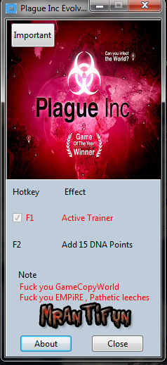 Plague Inc Evolved  Early Access Trainer +1 MrAntiFun