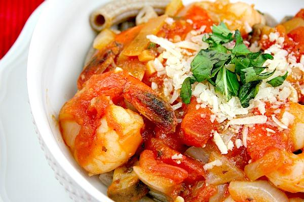 Scarborough FoodFair: Shrimp Pasta...with Tomato Basil Sauce.