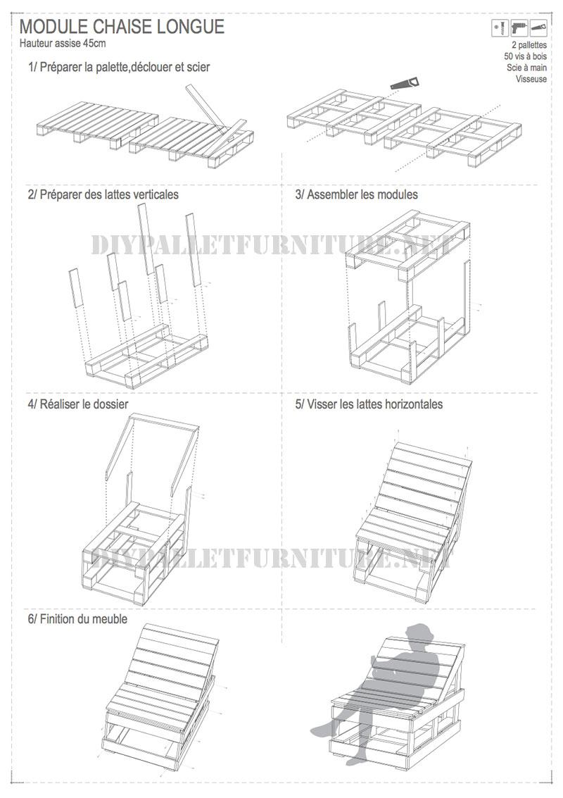 planos para hacer muebles de palets materiales de