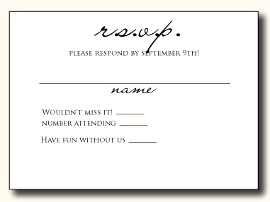 Ct Designs Calligraphy And Wedding Stationery 5 Types Of Wedding Rsvp Card Wording