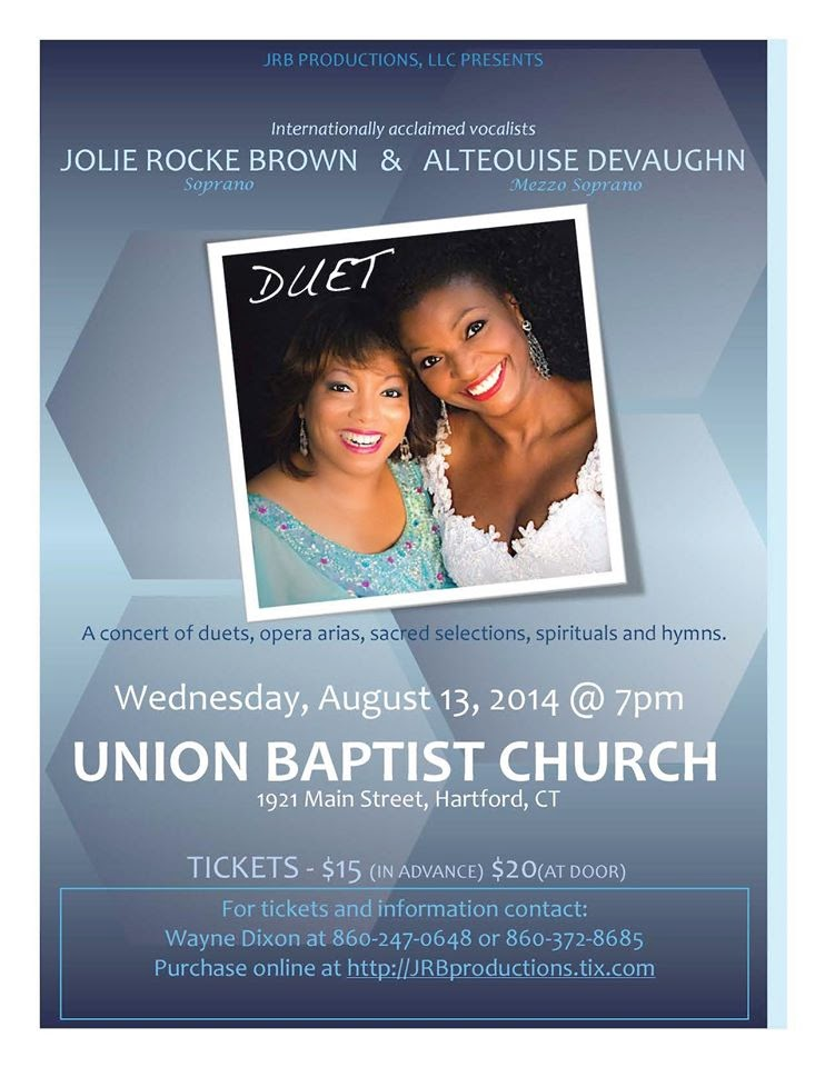 The FICKLIN MEDIA GROUP,LLC: JRB Productions, LLC presents Jolie Rocke Brown and Alteouise Devaughn in Concert