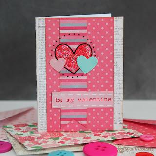 SRM Stickers Blog - Juliana Michaels - #Valentines #cards #mini #borders #glitter