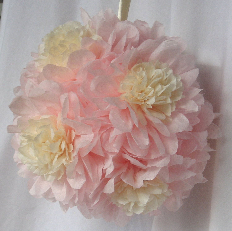 Paper Flower Balls For Wedding Paper Flower Pomander Balls To Decorate The Aisle