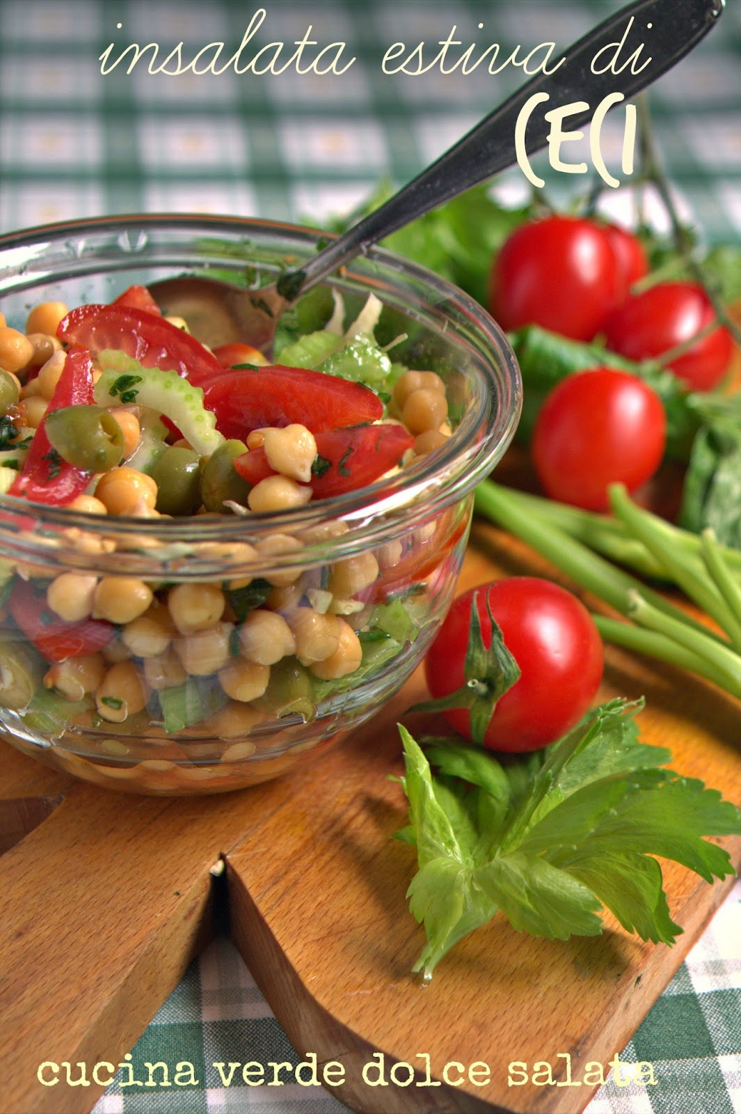 Cucina verde dolce salata insalata estiva di ceci for Cucina dolce