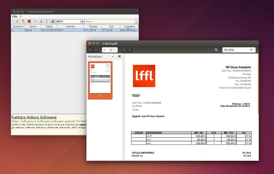 Fattura Veloce in Ubuntu