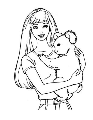 Printable Barbie Coloring Pages