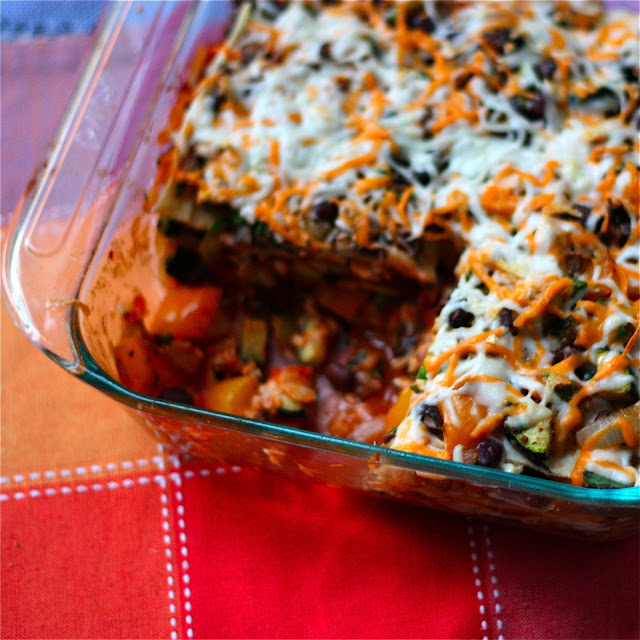 Roasted Vegetable Enchilasagna (a.k.a, stacked enchiladas ...
