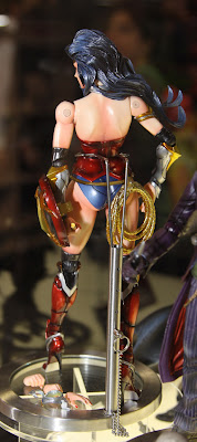 Square Enix Play Arts 2013 Toy Fair Display - DC Universe Wonder Woman figure