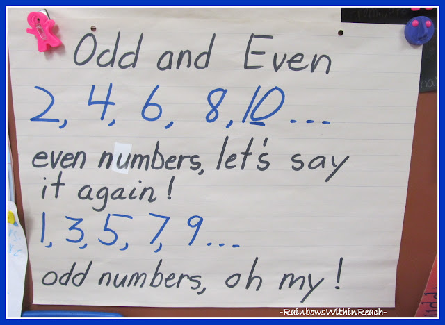 photo of: Math Anchor Chart: Odd and Even Numbers Rhyme