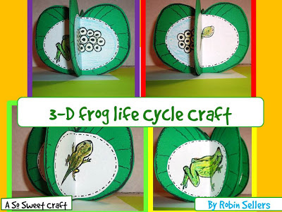 frog life cycle craftivity