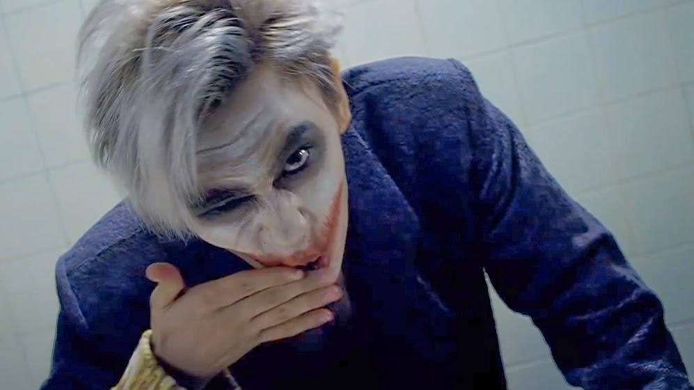 Troublemaker mimics the Joker in Kpop music video.