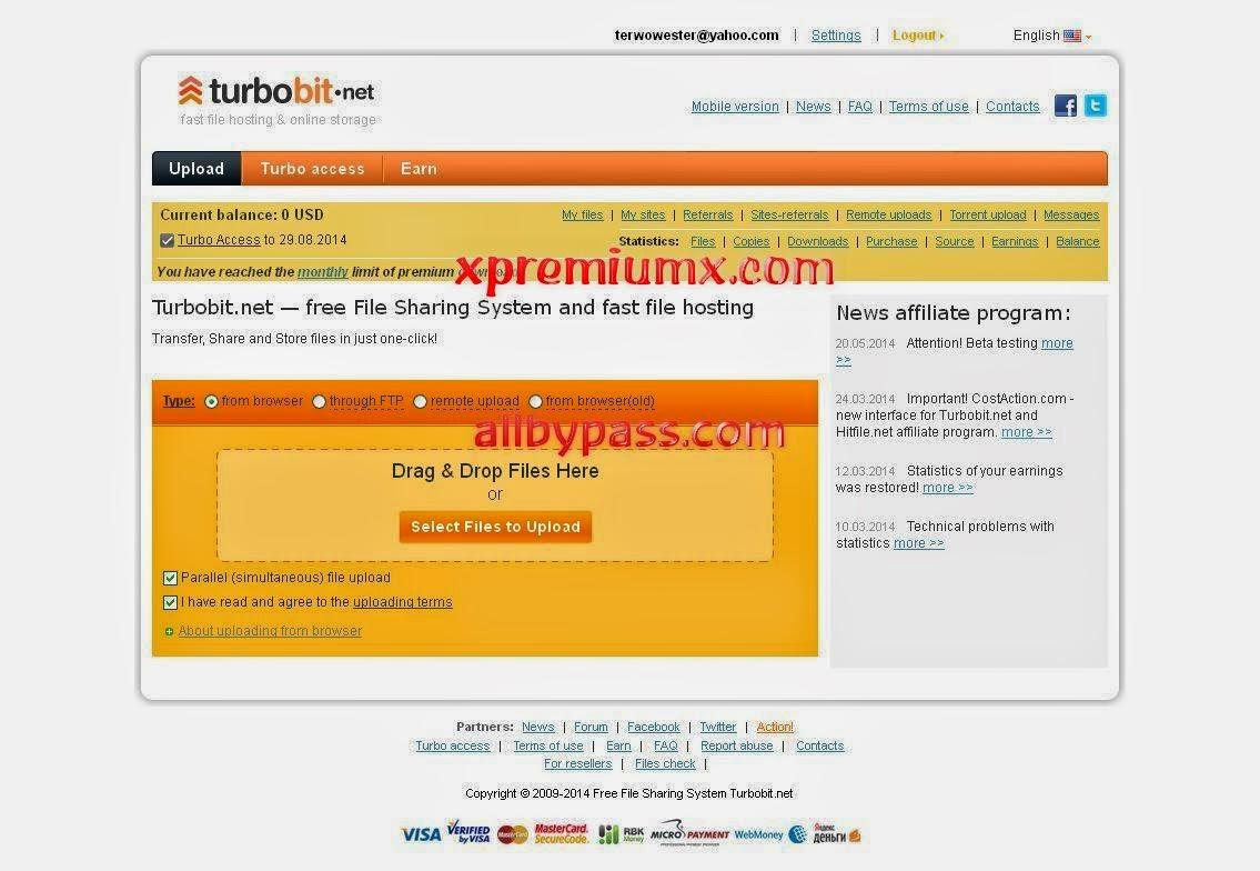 Premium X: Free Turbobit Premium Accounts 7 July - 8 July 2014