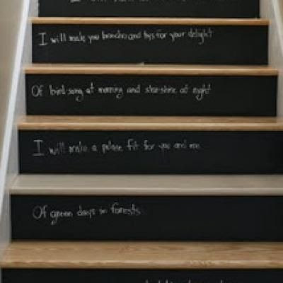 Stairway Paint Ideas on Charlotte  Unconventional Diy Chalkboard Paint Ideas   Paint Me Plaid