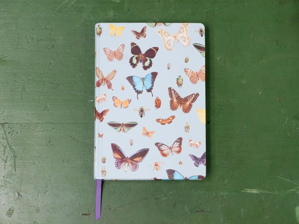 Bugs and Butterflies hardback notebook designed by Ella Doran