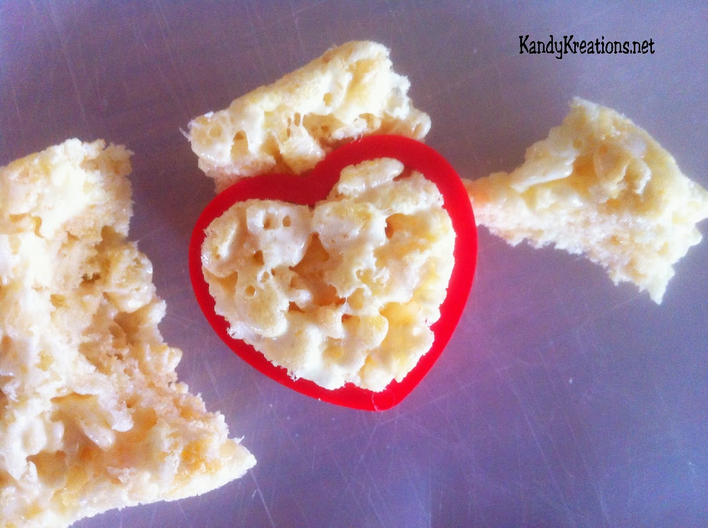 Use a cookie cutter to cut out hearts
