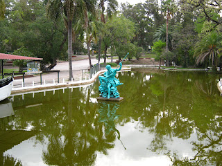 Poseidon on the lake at the prado play area
