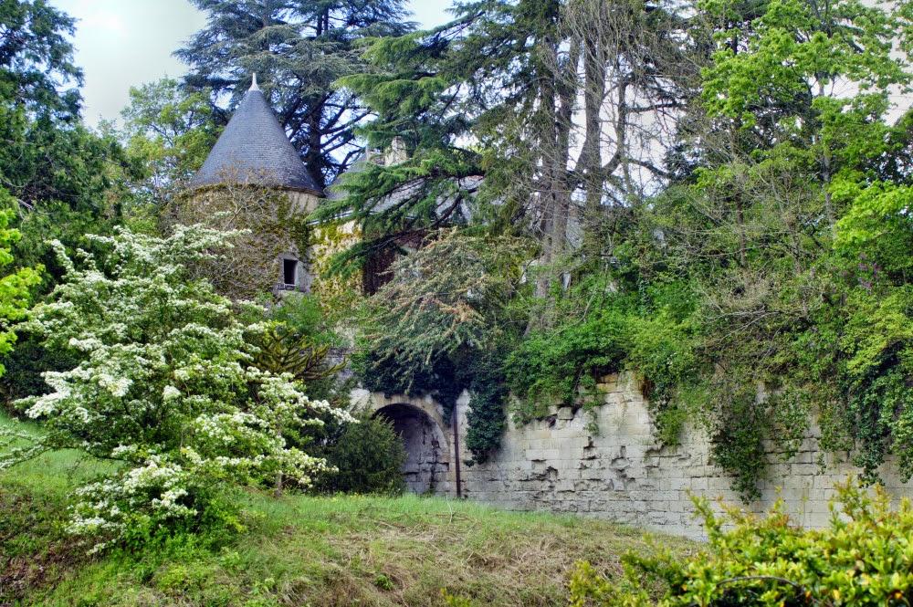Zamki nad Loarą - Zamek malarzy - mury obronne