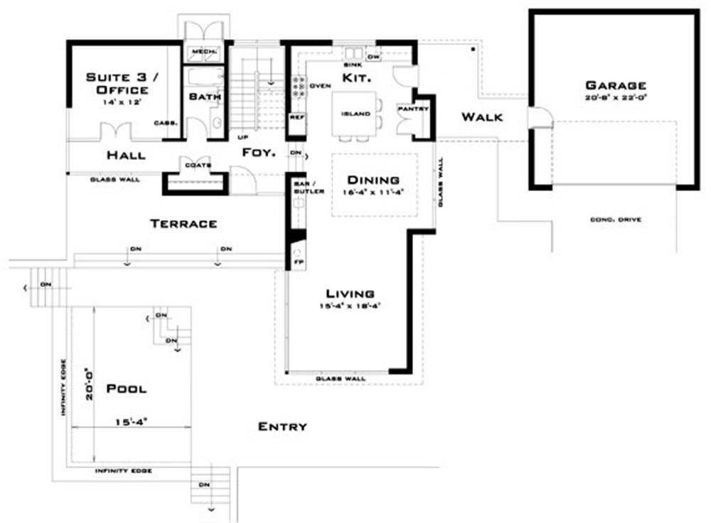 Planos y fachada de casa habitaci n moderna de 2 niveles for Planos de casa habitacion
