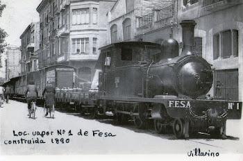 Locomotora de vapor de Fesa construida en 1890