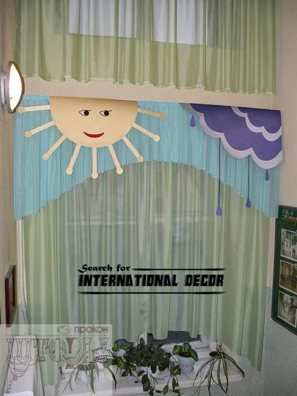 kids curtains, nursery curtains, green curtains