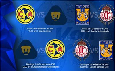 Hoy semifinales Liga MX