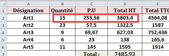 عملية حسابية اكسيل 2010