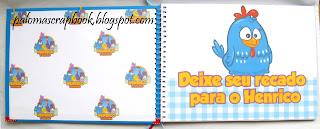caderno de assinaturas,galinha pintadinha