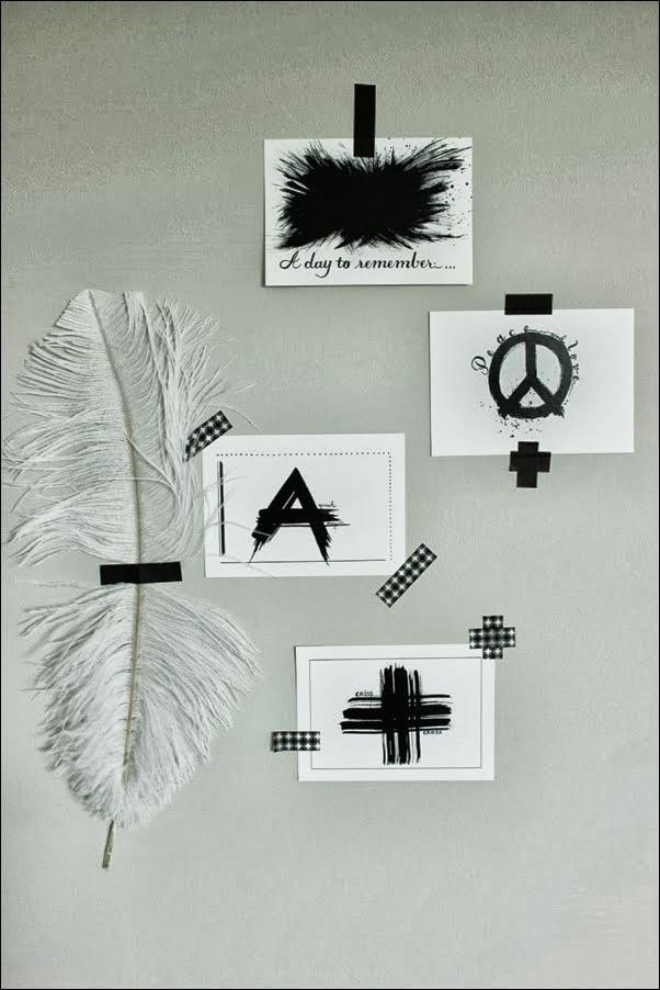 svarta och vita vykort, tävling om illustrationer, små prints, vykort, tävla om print, tävling artprints