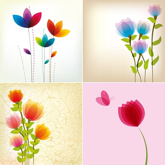 Flores etéreas - Vector