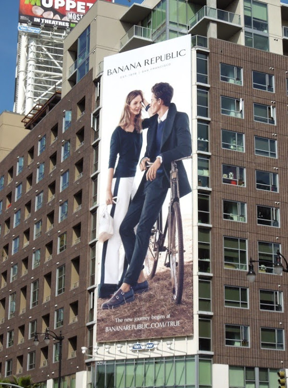 Banana Republic Sara Blomqvist Jeremy Young billboard