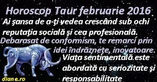 Horoscop Taur februarie 2016