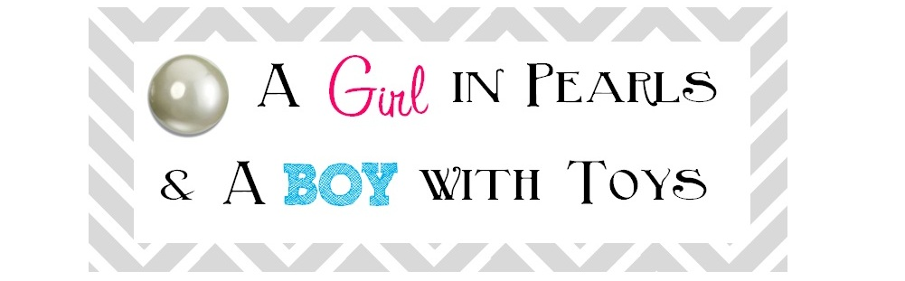 A Girl in Pearls & A Boy with Toys