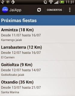 JaiApp, una aplicación con información completa sobre fiestas en Euskadi