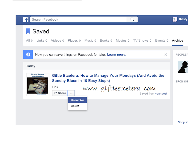 how to delete facebook archive