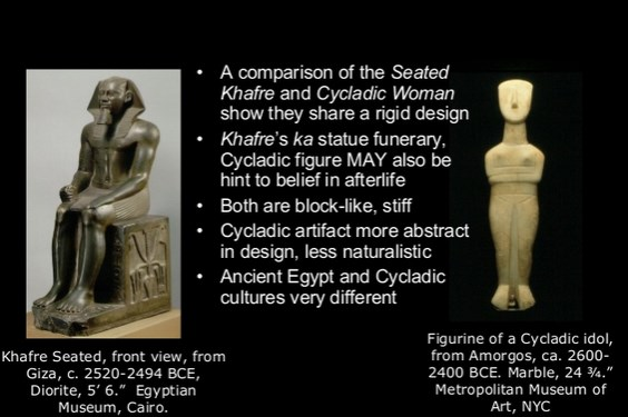 compare gudea and khafre