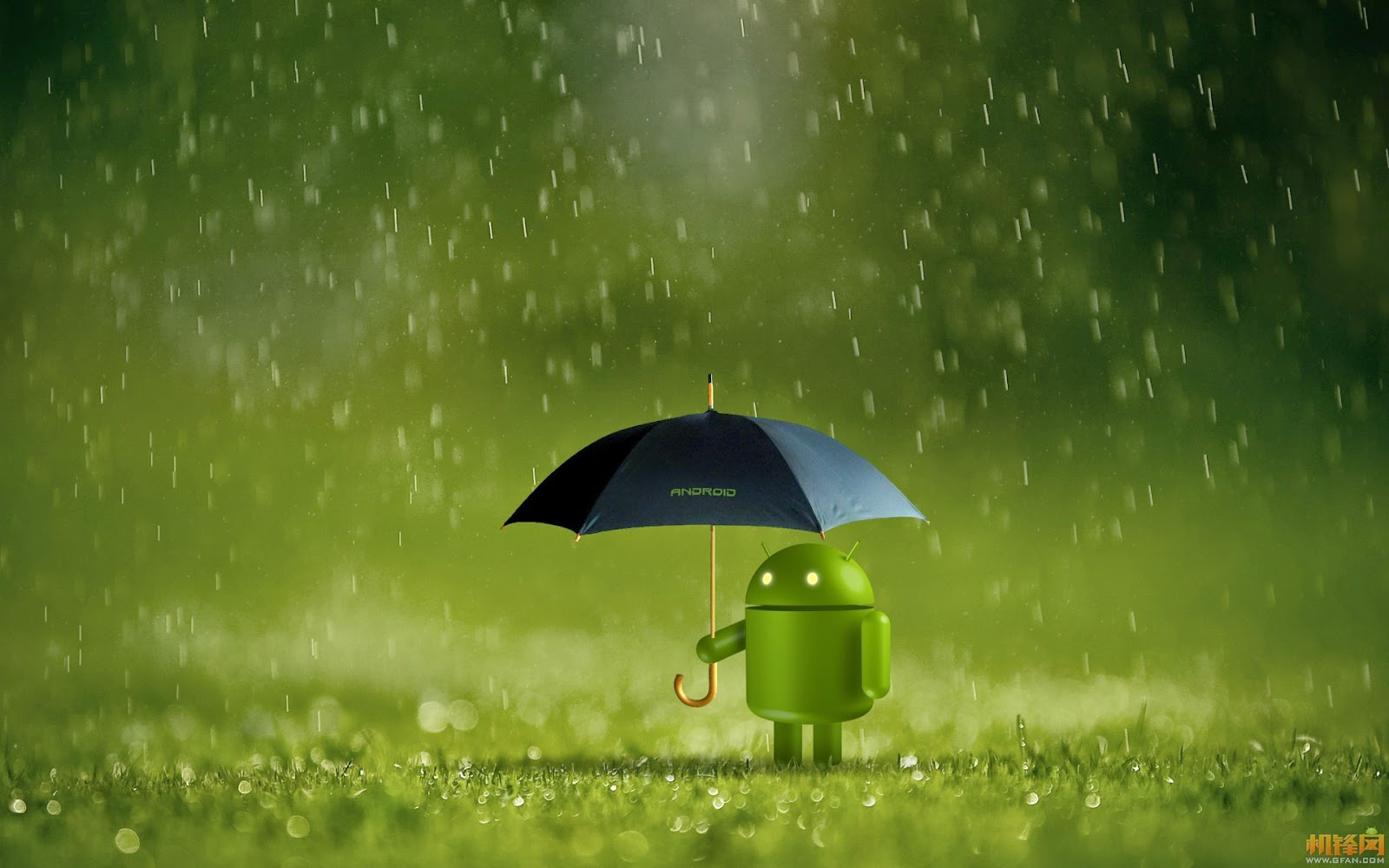 rain and android wallpapers full HD