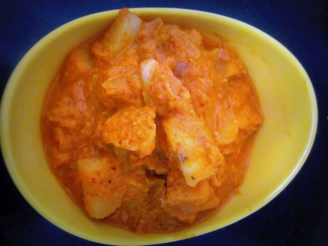 Potato in Coconut Gravy (Batate Song- Konkani Style)