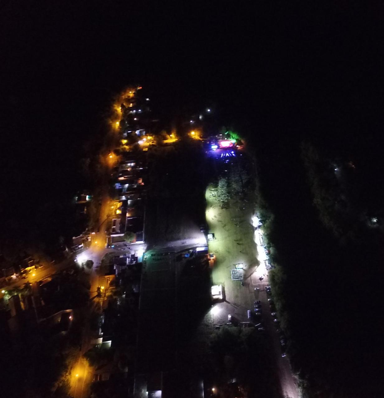 Imagen aerea en el final de la ultima noche. Nuestro barrio humilde de la zona sur de Parana