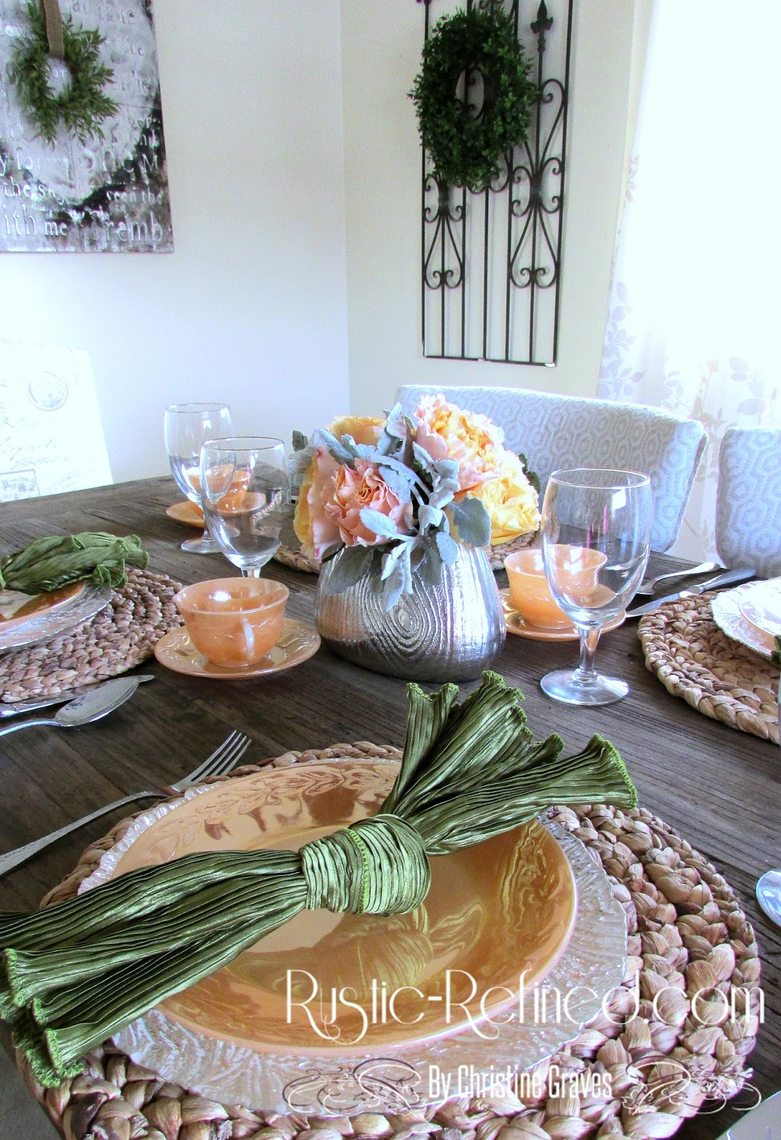Pretty Table Setting For Breakfast
