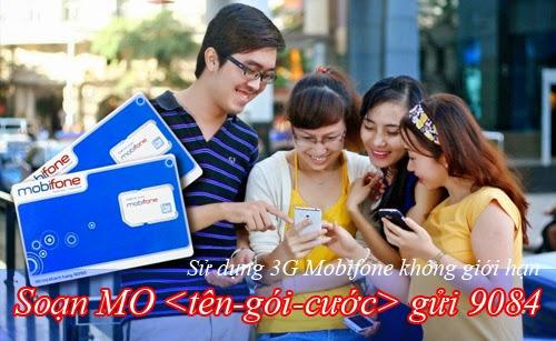 Các gói cước 3G Mobifone không giới hạn