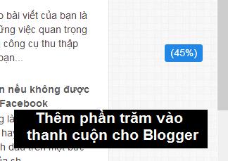 Thêm phần trăm vào thanh cuộn cho Blogger