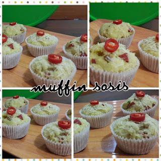 Resep Kue Muffin Sosis Enak ala Bunda inuk dwi kaeksi handayani