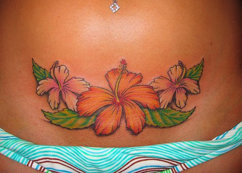 Hawaiian Flower Tattoo Designs