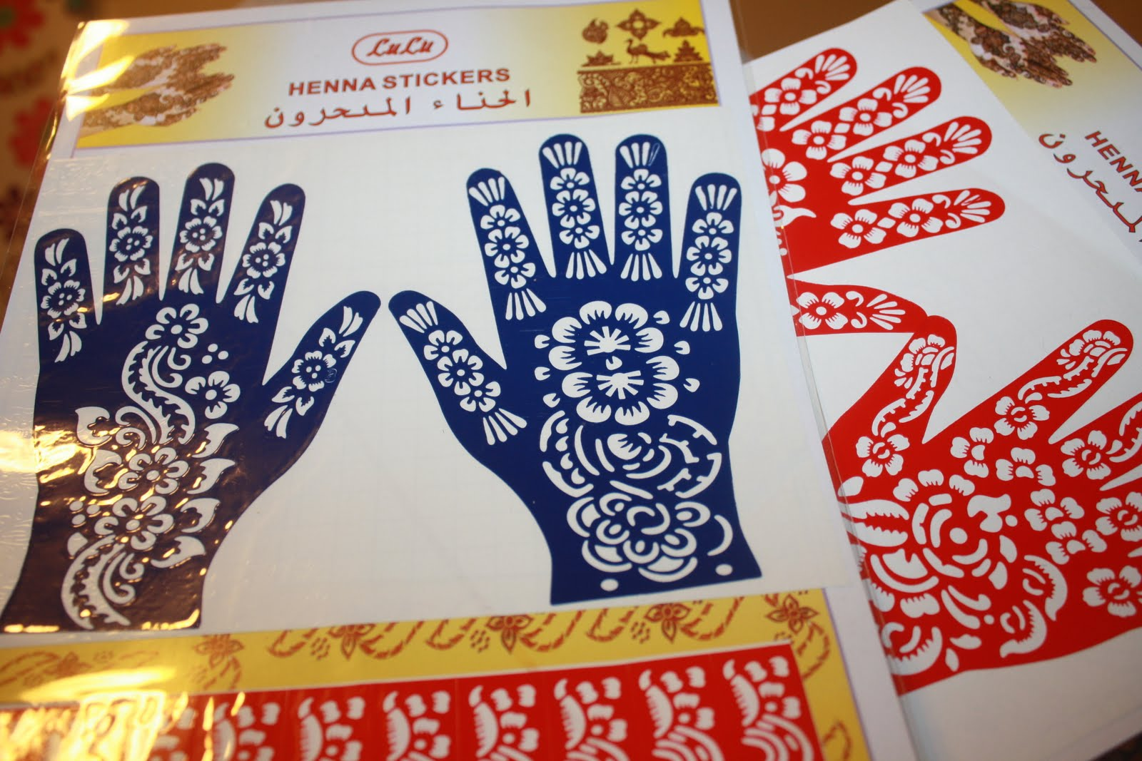Henna Mehndi Stickers : Moroccan beauty secrets henna stickers