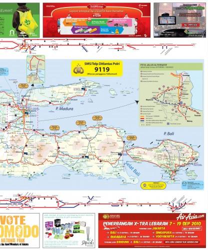Peta Jalur Mudik 2012 1433 H Lengkap (Download)