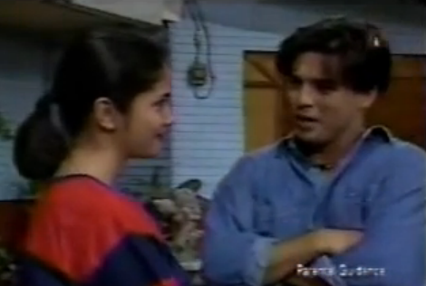 Oki Doki Doc ABS CBN 90's Agot Isidro as Alex and Aga Muhlach as Doc Aga First Meeting in Oki Doki Doc 1st Episode Philippine Sitcom