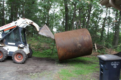 hauling it off