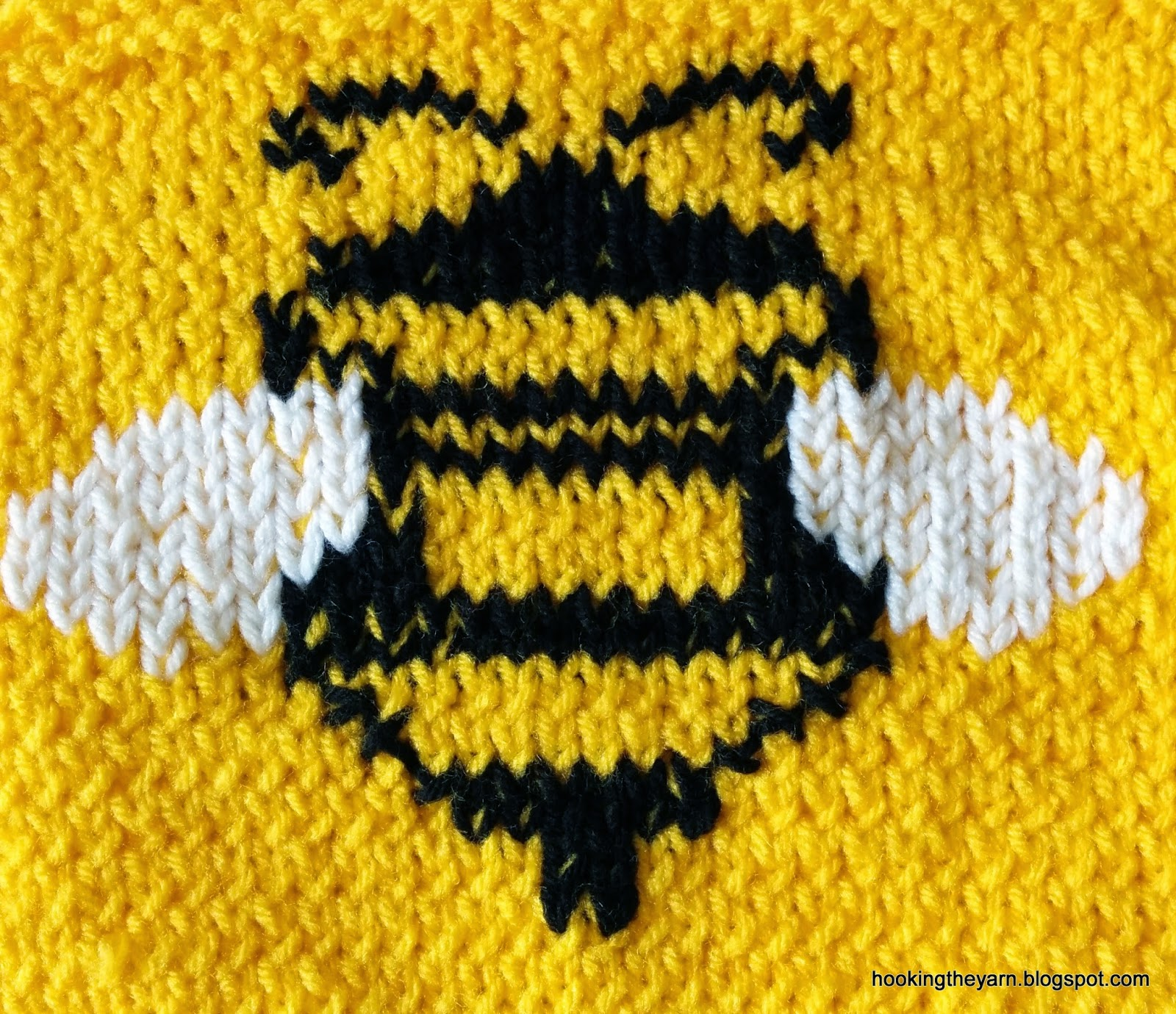 Knitted \'bumble bee\' baby set